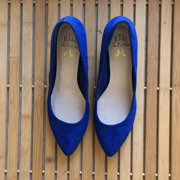 158fcd0fdc1 Miss KG Kurt Geiger cobalt blue kitten pumps sz 7.  M 5b62162cdcfb5a9ca2b235ca
